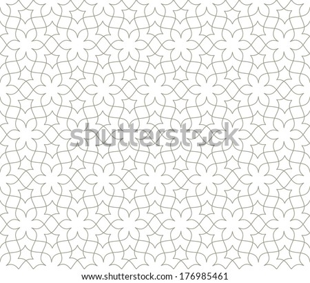Ornamental pattern. Traditional Arabic seamless ornament. - stock vector