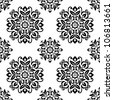 Ornamental round floral background. Seamless pattern for your design wallpapers, pattern fills, web page backgrounds, surface textures. - stock photo