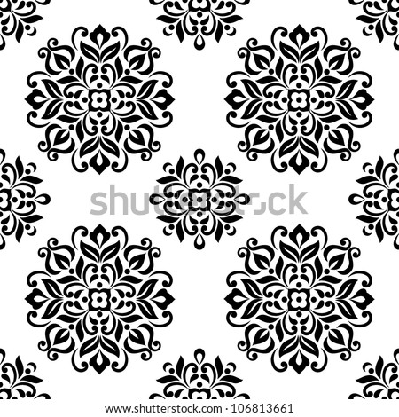 Ornamental round floral background. Seamless pattern for your design wallpapers, pattern fills, web page backgrounds, surface textures. - stock vector