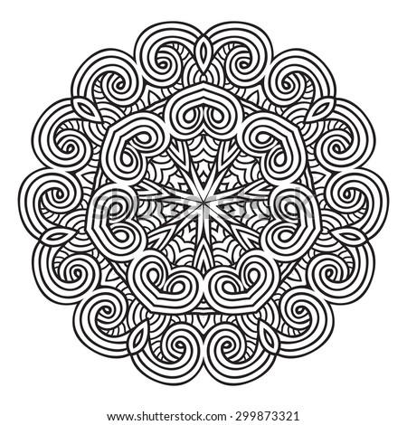 Ornamental round lace - stock vector