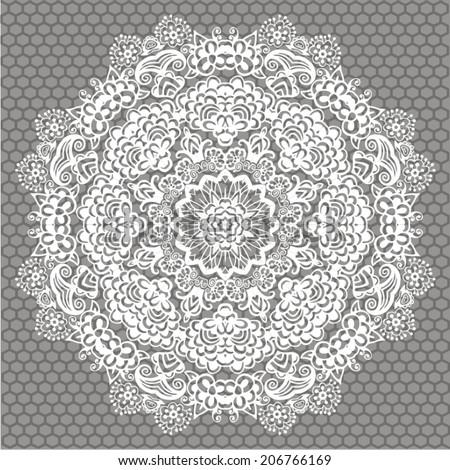 Crochet Patterns Vector : Crochet Flower Stock Photos, Images, & Pictures Shutterstock