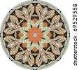 Ornamental round Paisley - stock vector