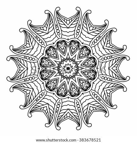 mandala coloring illustration coloring book adult stock vector 354076526 shutterstock. Black Bedroom Furniture Sets. Home Design Ideas