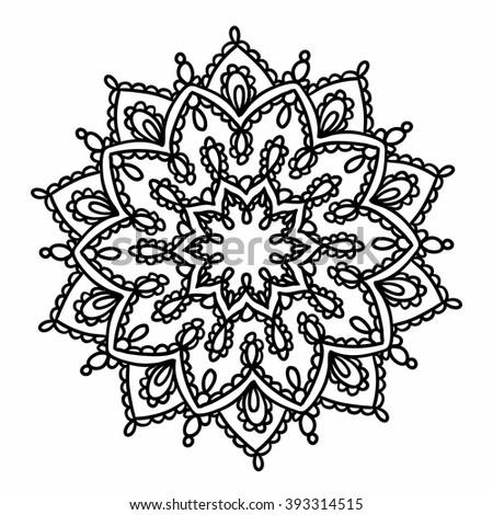 mandala patternarabic vintage decorative ornamentmandala gold stock vektorgrafik 411615601. Black Bedroom Furniture Sets. Home Design Ideas