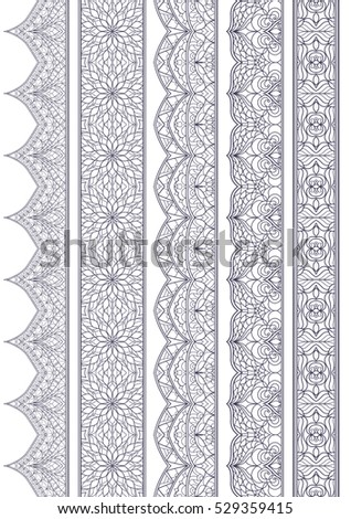 Ornamental Seamless Borders Vector Set for Decor