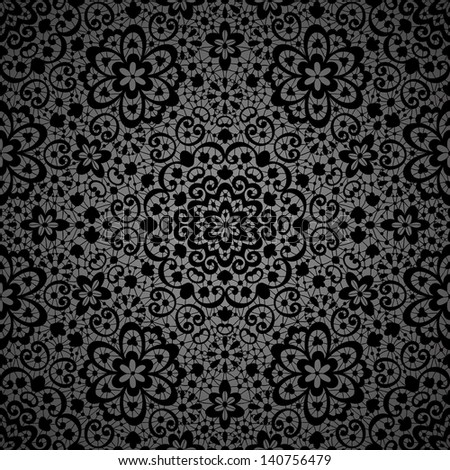 Ornamental seamless lace pattern - stock vector