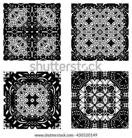 Ornamental Vector Repeating Art Deco Backgrounds