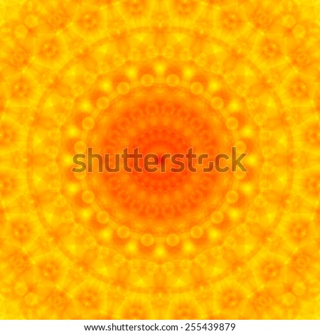 Ornamental yellow macro flower background - stock vector