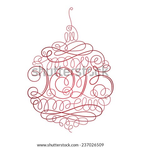 Ornamented Christmas decoration with inscription 2015 in the center - stock vector