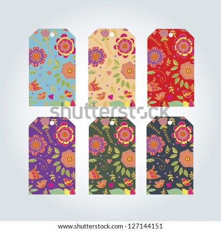 ornamented label - stock vector