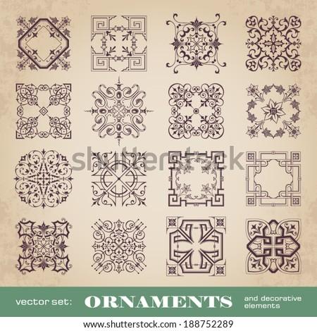 Ornaments and decorative elements - stock vector