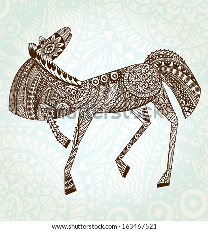 Ornaments Horse.  EPS 10 - stock vector
