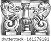 ornate architectural detail - stock photo