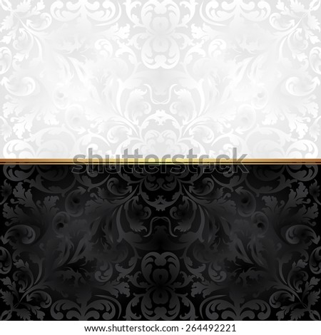 ornate background black and white  - stock vector