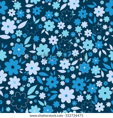 Ornate beauty flower seamless pattern. Multicolor vector illustration for textile, wrapping paper, pattern fills, web page background, surface textures.  Abstract floral original background. - stock vector