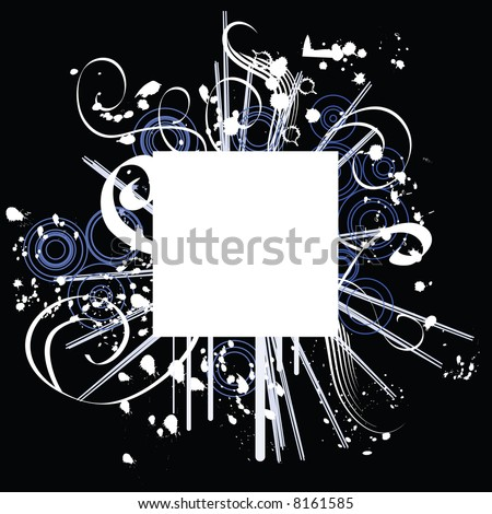 Ornate border design with fancy surround - stock vector
