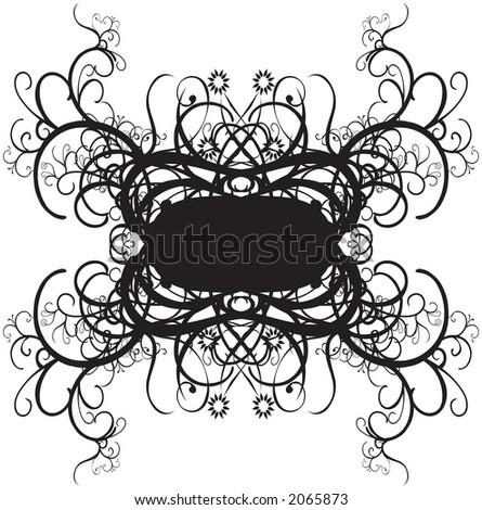 Ornate decorative borders - stock vector