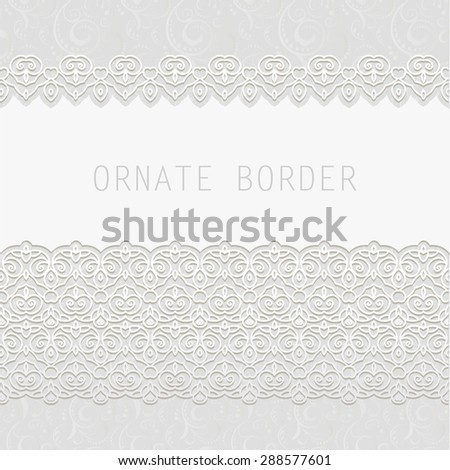 Ornate element for design, place for text. Ornamental  illustration for wedding invitations, greeting cards. - stock vector