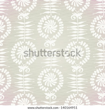 Ornate floral seamless background. - stock vector