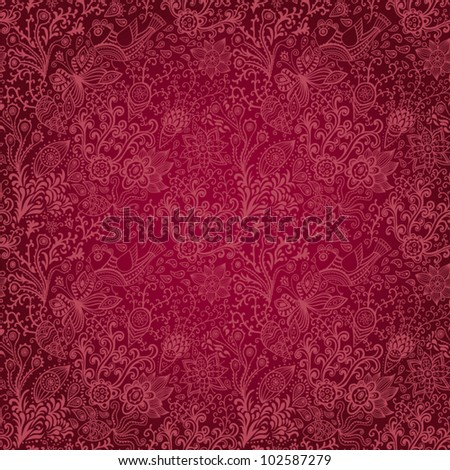 Ornate floral seamless texture, endless pattern with flowers. Seamless pattern can be used for wallpaper, pattern fills, web page background, surface textures - stock vector