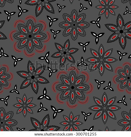 Ornate floral seamless texture.Seamless pattern can be used for wallpaper, pattern fills, web page background, surface textures