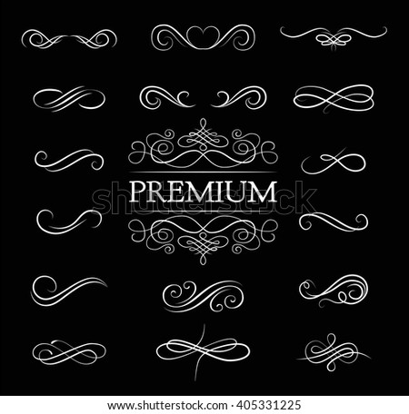 Ornate frame elements. Vintage and filigree decoration. Ornate frames and scroll  swirls element.  scroll invitation. filigree element. divider vintage ornament. swirl - stock vector