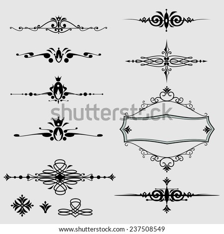Ornate frames and scroll elements.vector - stock vector
