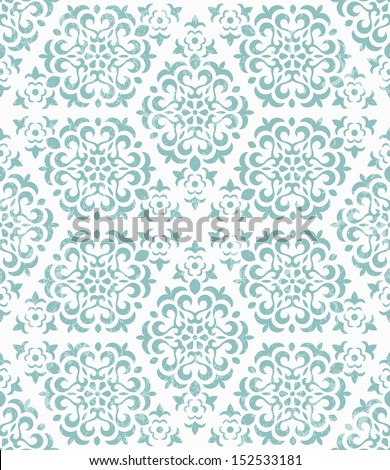 Ornate geometric wallpaper. Seamless abstract background. EPS 10 vector illustration. Grunge effect can be removed. - stock vector