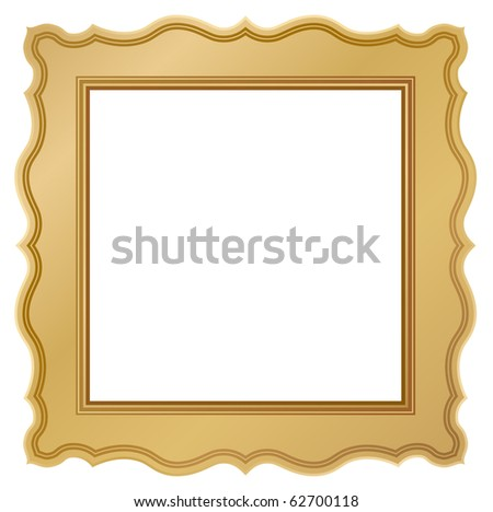 ornate golden frame - stock vector