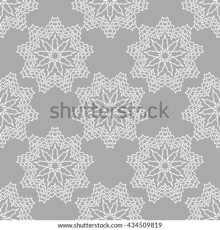 Ornate seamless pattern, endless pattern with abstract flowers . Seamless pattern can be used for wallpaper, pattern fills, web page background, surface textures - stock vector