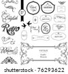 Ornate set vintage elements - stock vector