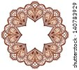 Ornate vector circle pattern in indian style - stock photo