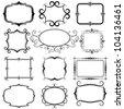 ornate vector frames and ornaments - stock photo