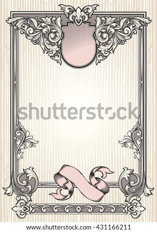 Ornate vintage decorative design - stock vector