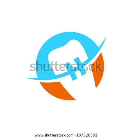 Orthodontics sign Branding Identity Corporate vector logo design template Isolated on a white background - stock vector
