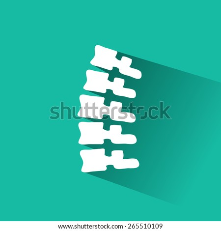 Orthopedic and spine symbol - vector illustration, Collection Human Skeleton. - stock vector