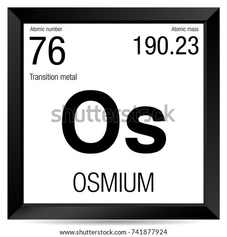 Osmium symbol element number 76 periodic stock vector royalty free osmium symbol element number 76 of the periodic table of the elements chemistry urtaz Gallery