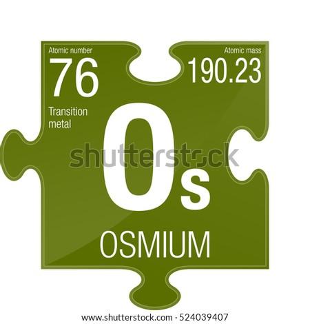 Osmium Symbol Element Number 76 Periodic Stock Vector 2018