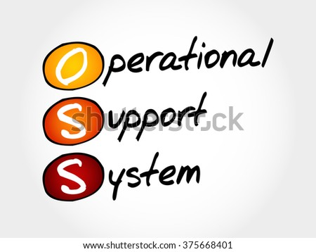 OSS - Operational support system, acronym business concept - stock vector
