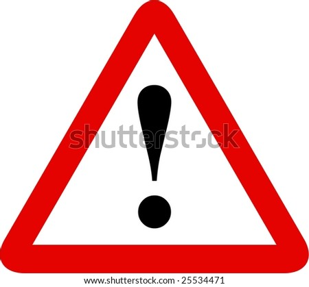 other danger sign - stock vector