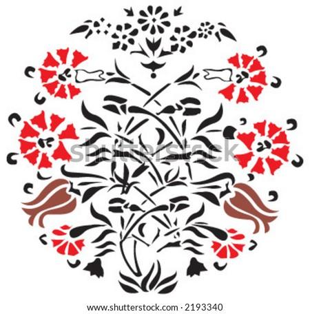 ottoman motif - stock vector