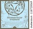 ottoman ornament blue - stock vector
