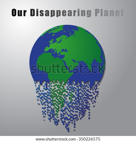 Our disappearing planet - stock vector