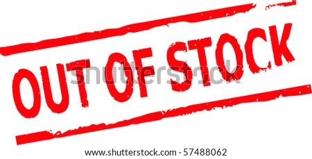 out of stock rubber stamp vector illustration - stock vector