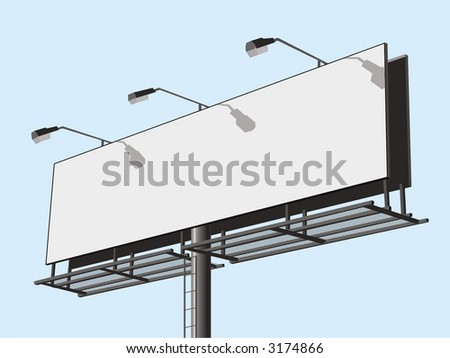 Outdoor advertising construction. Vector illustration. - stock vector