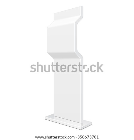 Outdoor Advertising Stand Banner Shield Display, Advertising. Illustration Isolated On White Background. Vector EPS10 - stock vector