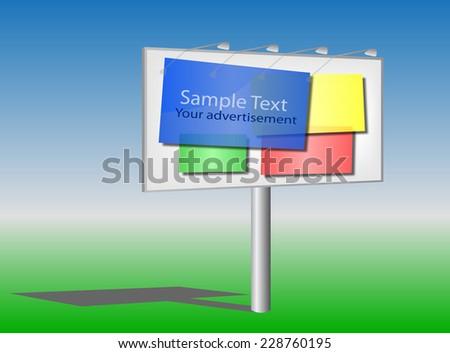 Outdoor big advertising construction, vector - stock vector