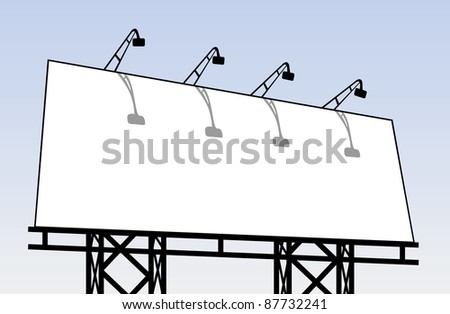 outdoor billboard - stock vector