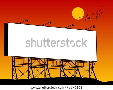 Outdoor billboard, vector illustration - stock vector