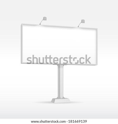 Outdoor Billboard with Lighting - stock vector